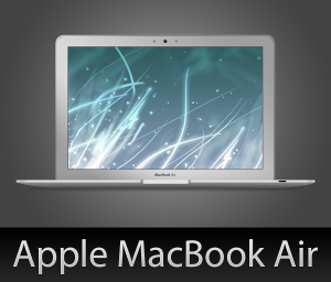 скачать psd macbook air