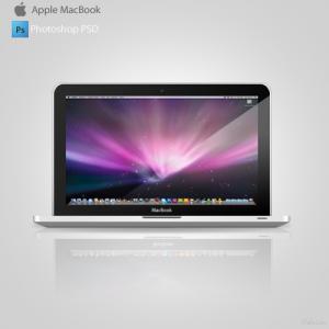 psd ноутбука macbook
