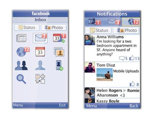facebook java-приложения для мобильных телефонов