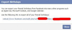 экспорт данных из facebook