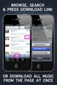 приложение для скачивания музыки из интернета с вашего ipad/iphone