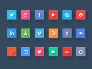 плоские социальные иконки