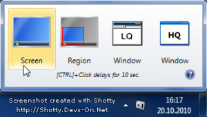 быстрое создание скриншота