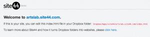 свой сайт на dropbox