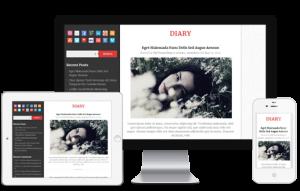 адаптивный шаблон diary для wordpress