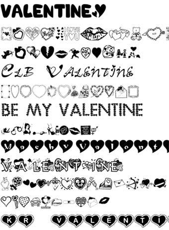 Шрифты к Дню Святого Валентина